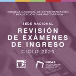 Revisión de exámenes de ingreso ciclo 2020